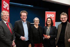 Gerd Prüfer, Martin Haberssat, Ursula Jonca, Serpil Midyatli und Jan-Christoph Schultchen