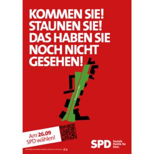 Plakat für den Infostand
