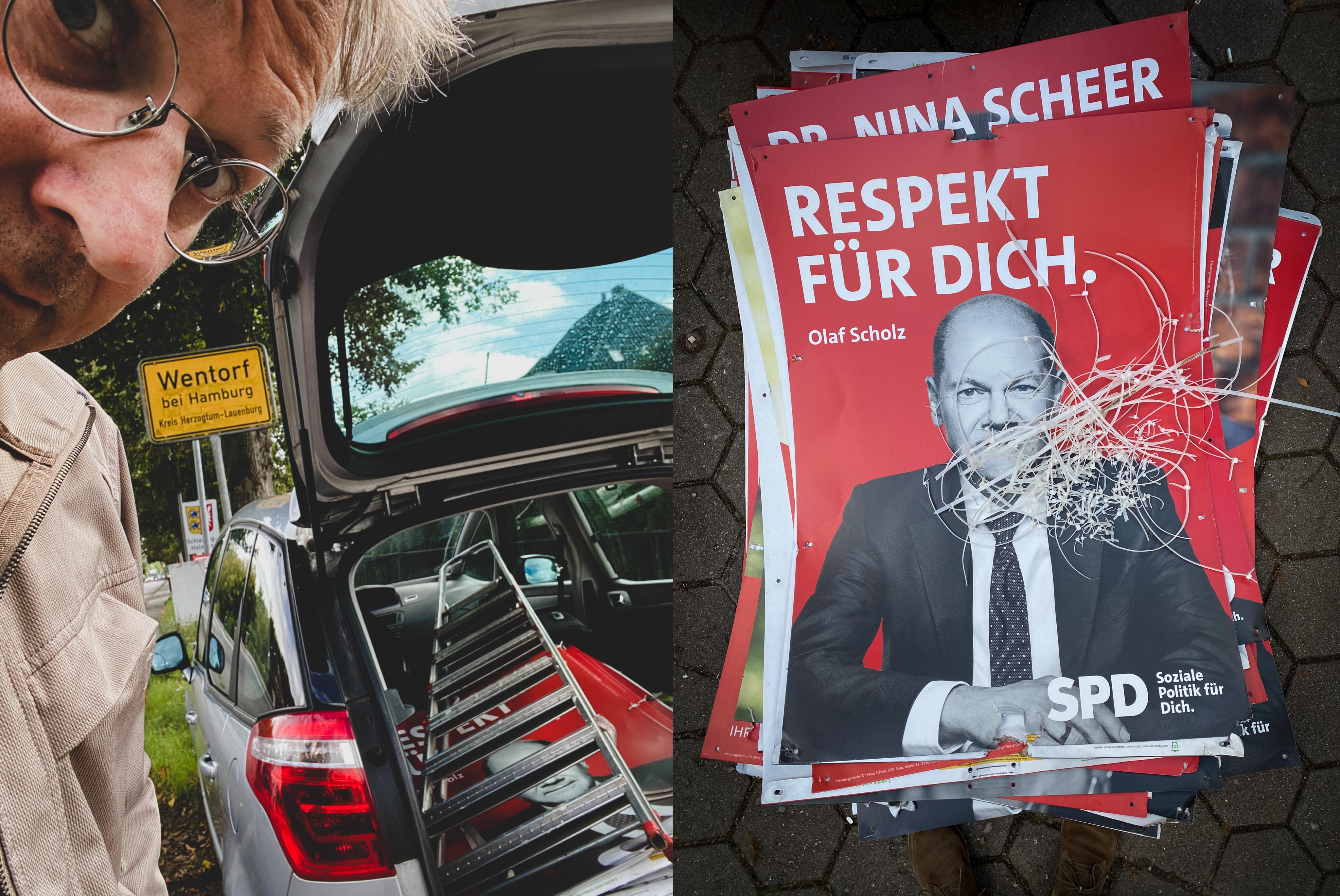 SPD Plakateabhängen